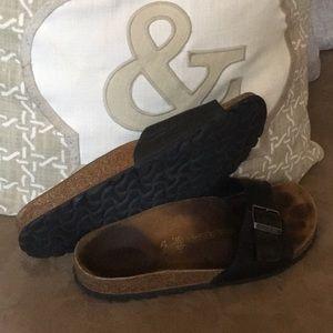 Birkenstock's Womens Size 39 Leather Black